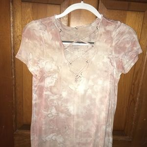 AMERICAN EAGLE SOFT & SEXY LACE UP SHIRT